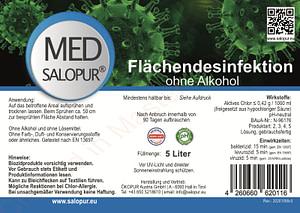 Salopur MED 5 Liter Kanister - Flächendesinfektion