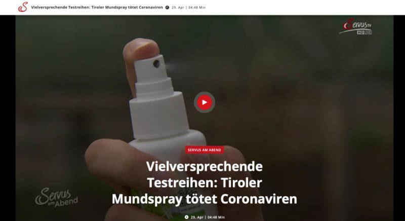 Ökopur Mundspray Servus TV